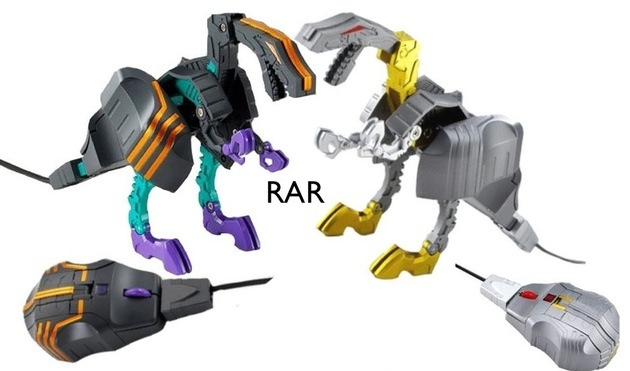 Grimlock and Trypticon Transformer mice are cool