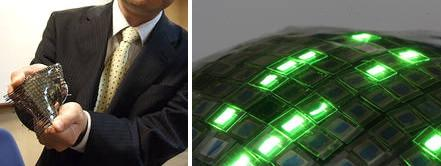 Rubber OLED display developed for stretchable screens