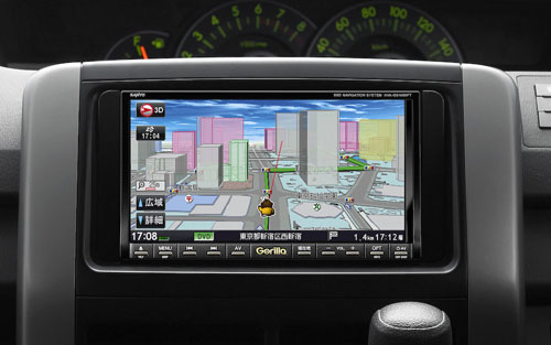 Sanyo in-dash navigation systems sport SSD