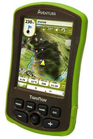 TwoNav Aventura PND with custom mapping provision