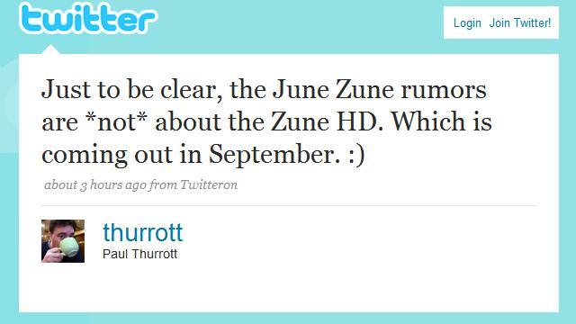 Zune HD launching September?