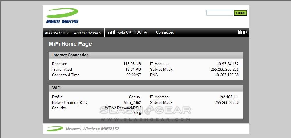 Novatel Wireless MiFi 2352 HSPA review