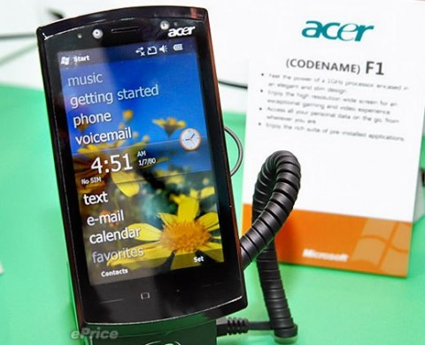 Acer F1 Snapdragon smartphone, plus A1 Android handset, tipped from September