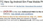 HTC Hero up for pre-order: ships July 15th