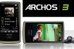 "Archos 3 PMP with 8GB and ""virtual wheel"" controller"