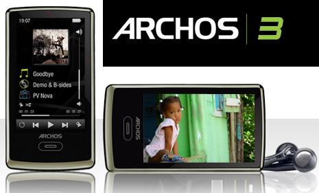 """Archos 3 PMP with 8GB and """"virtual wheel"""" controller"""