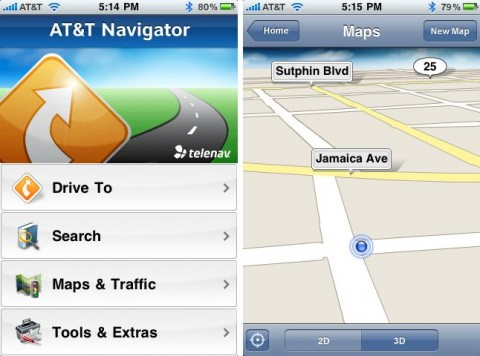 AT&T Navigator for iPhone released: functional but expensive