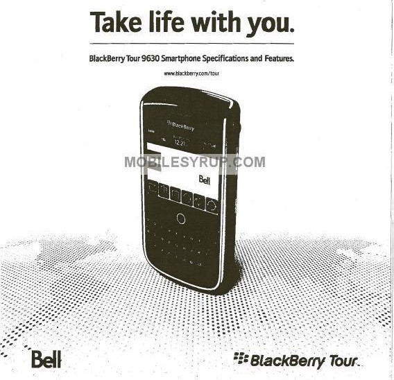 BlackBerry Tour 9630 specs leak: Arrives in Canada mid-July
