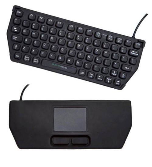 Econo-Keys EK-76-TP mobile keyboard sports touchpad