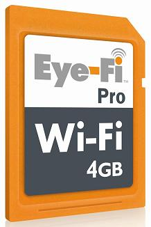 Eye-Fi Pro 4GB adds ad-hoc WiFi, RAW support, Selective Transfer
