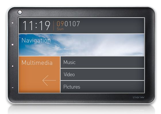 iriver NV Classic PMP with satnav and DMB-T TV
