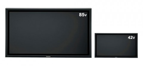 Panasonic 85-inch 1080p plasma display is huge