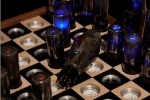 Chess Set for Tesla: custom vacuum tube chess set