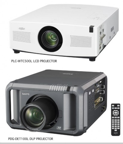 Sanyo debuts two bright projectors