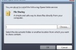 select folder (file sharing)