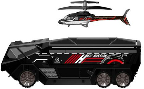 Silverlit Heli-Mission SWAT Truck: R/C car with hidden helicopter! [Video]
