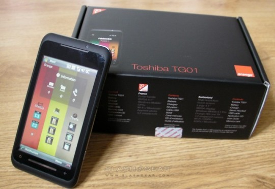 Toshiba TG01 Windows Mobile 6.5 upgrade confirmed