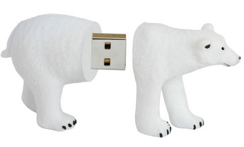 Active Media switch Poles with WWF Polar Bear flash drive