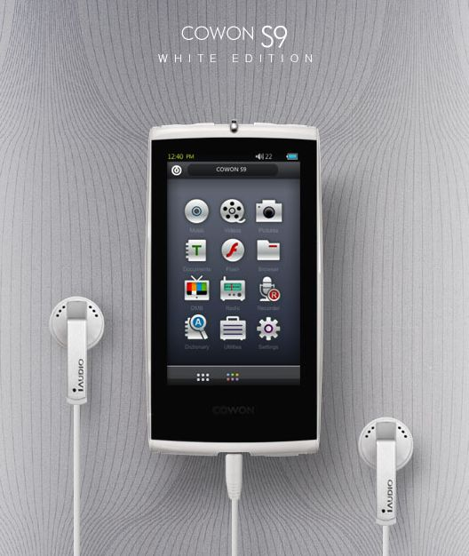 Cowon S9 White Edition PMP unveiled