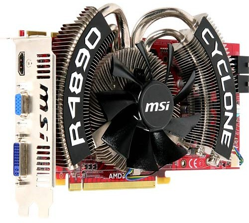 MSI R4890 Cyclone SOC video card