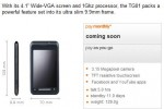 "Toshiba TG01 ""coming soon"" to Orange UK"