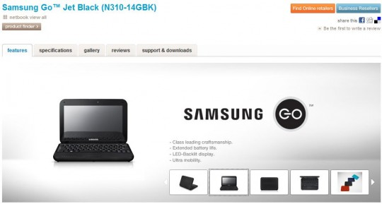 samsung go n310 official page 540x289