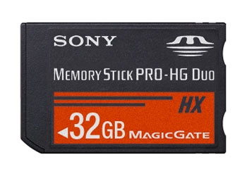 Sony 32GB Memory Stick Pro-HG Duo HX revealed