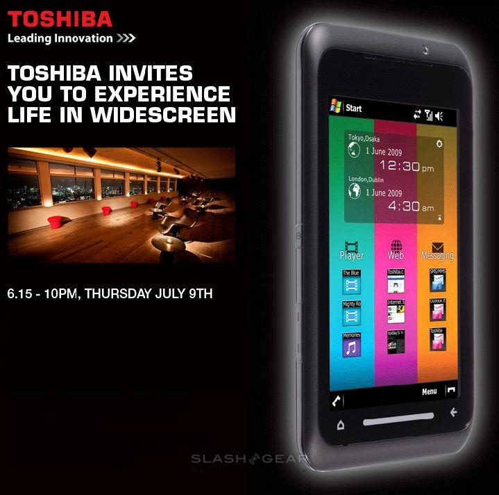 Toshiba TG01 official launch on July 9th: SlashGear will be there!