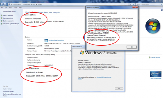 Microsoft block Windows 7 OEM key hack
