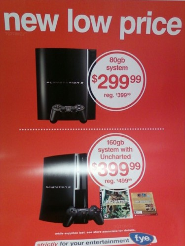 Sony PS3 price-cuts at FYE ahead of PS3 Slim launch later today?