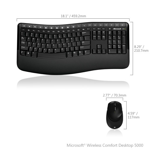 Microsoft Wireless Comfort Keyboard 5000 for $80 Coming Later This Month