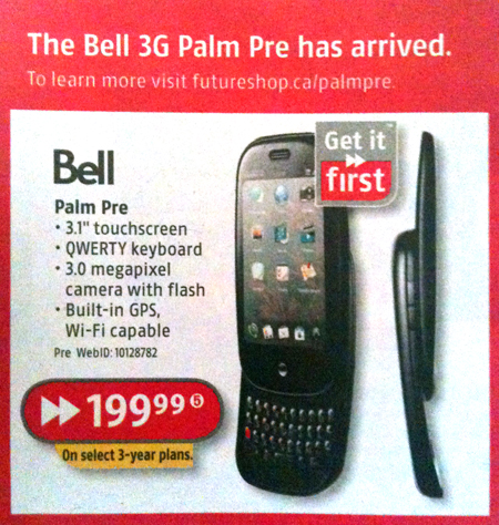 Palm Pre Gets More Advertisement Up North