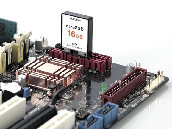 Elecom nanoSSD slots straight into SATA port