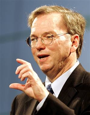 eric schmidt1 Google To Increase Spending