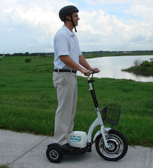 GoPet personal electric scooter is extra geeky