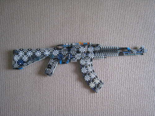 K'nex AK-47 assault rifle replica probably not for kids
