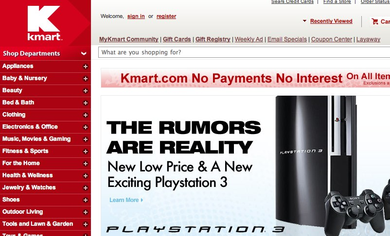 Kmart confirm PS3 price cuts and impending new model