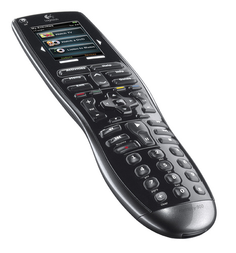 Logitech Harmony 900 universal remote with RF for out-of-site components
