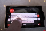 Zune HD browser and onscreen keyboard shown: Bing on board