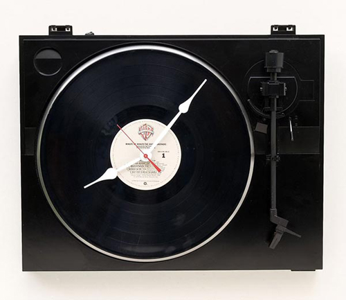 Recycled Fischer Turntable Clock revealed