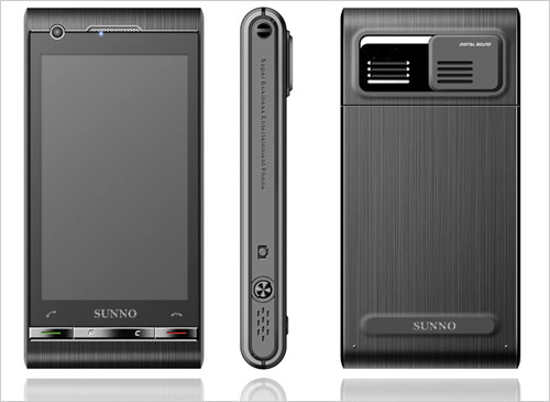 Sunno S880 packs both Android and WinMo, borrows Idou style