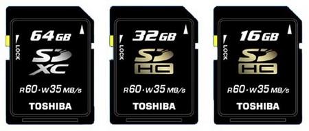 Toshiba 64GB SDXC memory card announced: lands Spring 2010