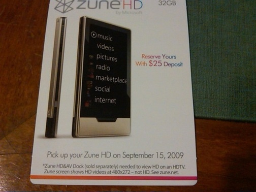 Microsoft Zune HD Gets Another Release Date, Still No Official Pricing