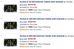 Archos 5 Android Internet Tablet up for Amazon preorder