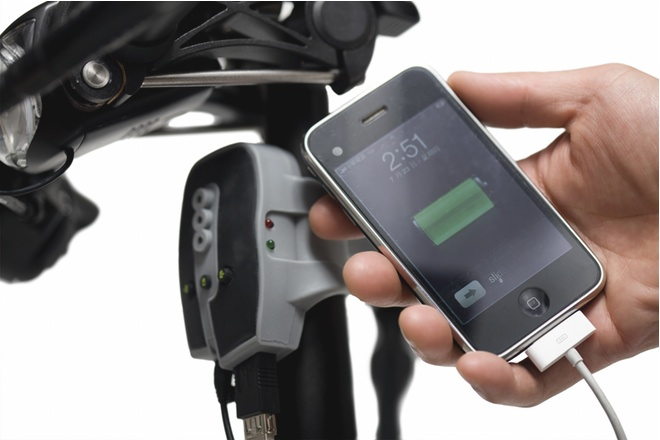 Dahon FreeCharge Charges USB Connected Devices By Pedal Power