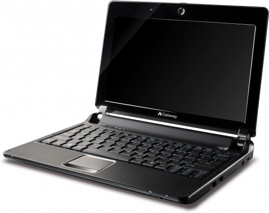 Gateway LT20 netbook front right view