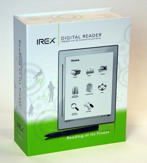 IREX DR800SG gets official: 8.1″ touchscreen 3G ebook reader