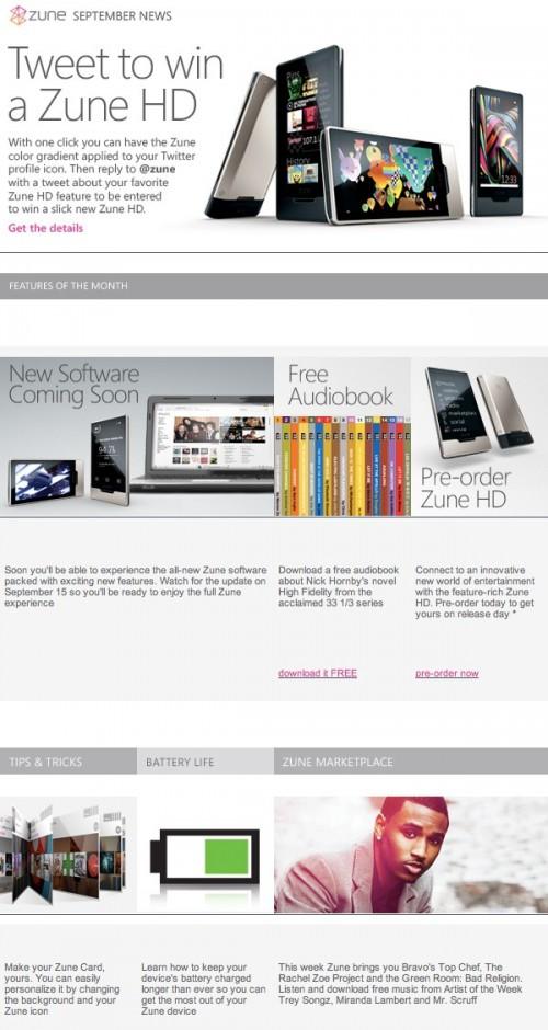 Microsoft Zune Software Update Coming September 15
