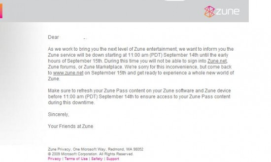 Microsoft Zune System Maintenance Taking the Social Offline On the 14th