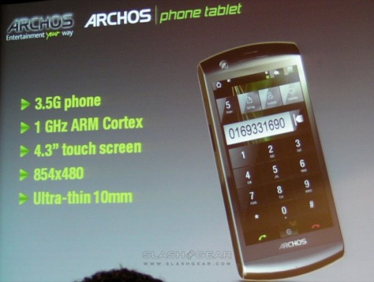 Archos Phone Tablet axed over poor carrier support?